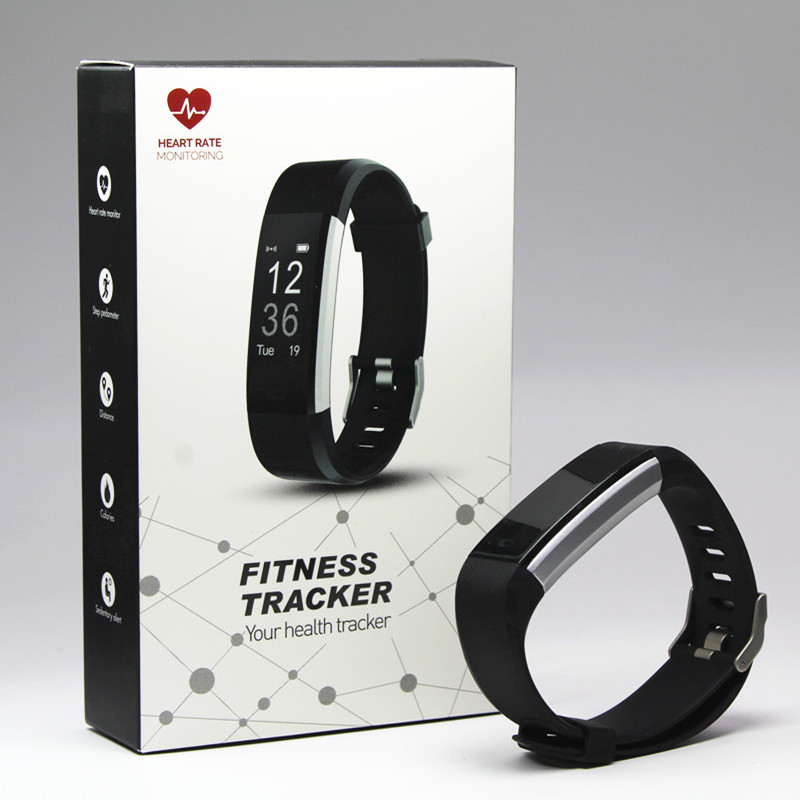 ID115 HR PLUS Smart Bracelet GPS Fitness Tracker Watch Heart Rate