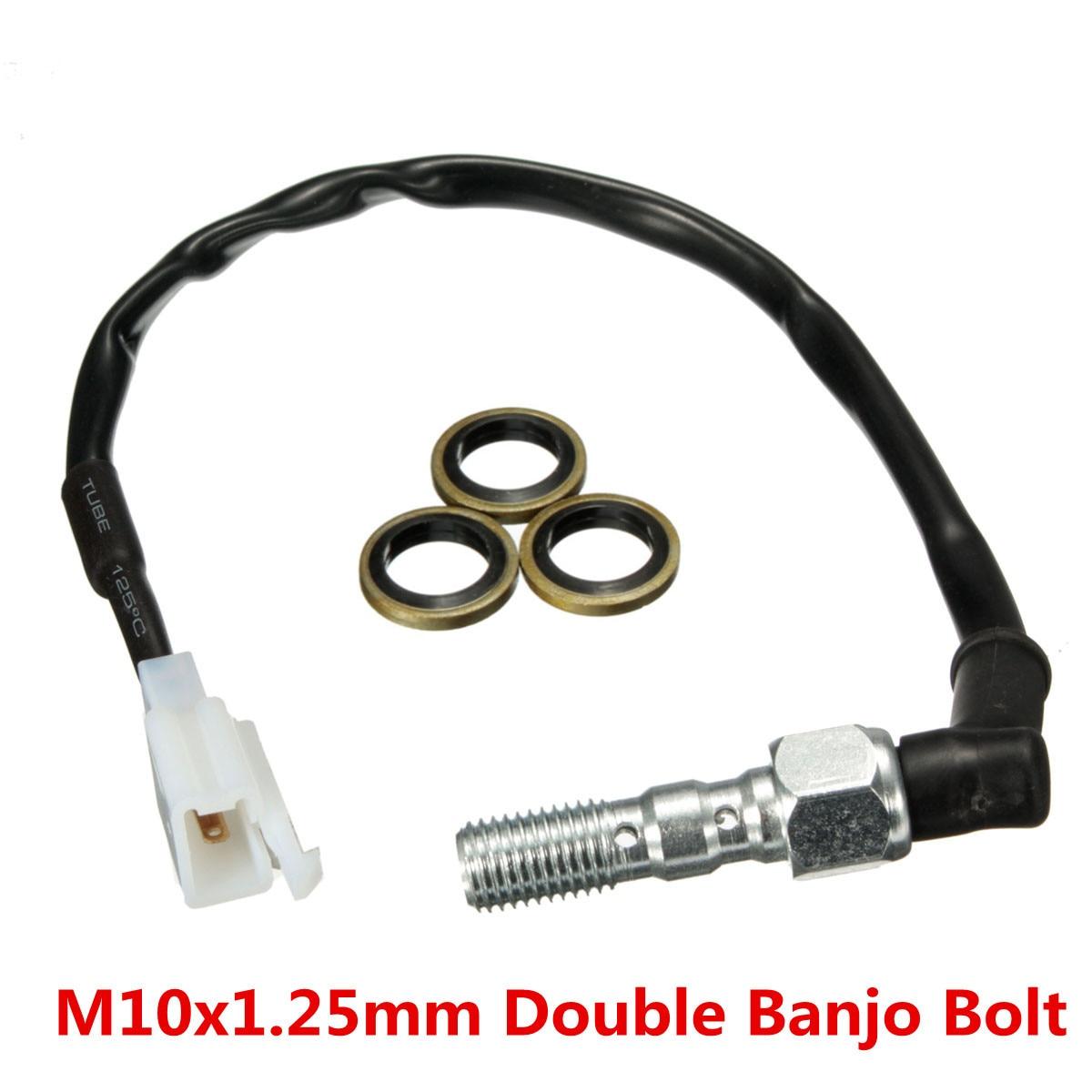 Motorcycle Hydraulic Double Banjo Bolt Brake Light Switch M10 x 1.25mm motorcycle hydraulic double banjo bolt brake light switch m10 x 1 00mm