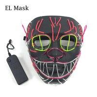 Nouveau Design Lumineux Chat masque Halloween masque el fil froid enfants jouets LED masques festival Néon Light Party Décoration