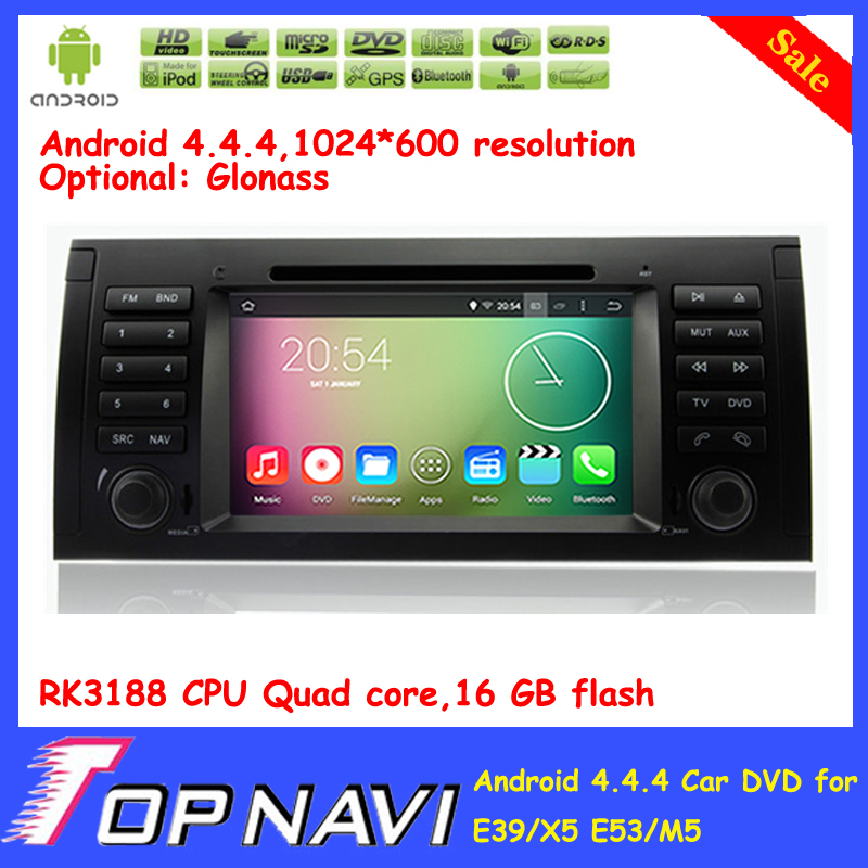 Top Professional Quad Core Android 5.1.1 Car DVD Player For E39/X5 E53/M5 With GPS Wifi Bluetooth Free Map