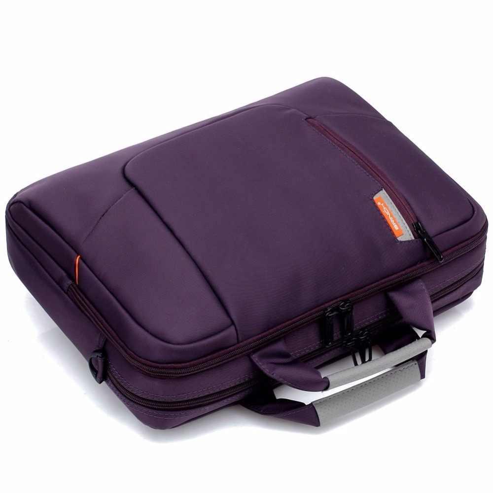 """Бринч bw-205 мягкой нейлоновой Водонепроницаемый чехол для ноутбука с боковыми карманами Шолдер Сумка для Тетрадь компьютер 14 15 """"ноутбук сумка"""