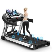 Светодиодный дисплей складная беговая дорожка для бега для снижения веса для дома ультра-тихий тренажерный зал шестиколесный привод Демпфирование ходьба фитнес-оборудование