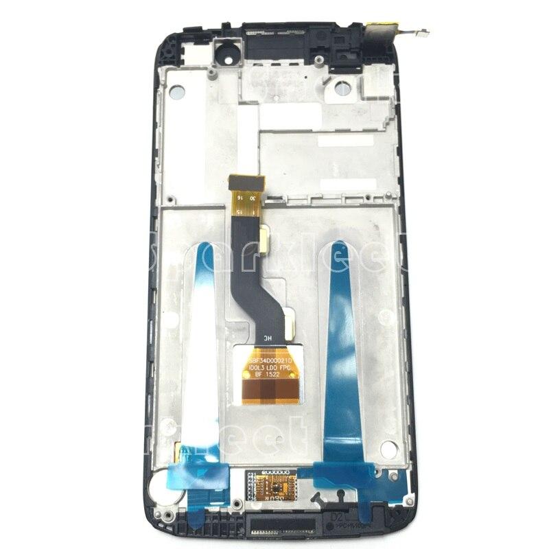 Montaje de digitalizador de pantalla táctil LCD con marco para Alcatel One Touch Idol 3 LTE 6039