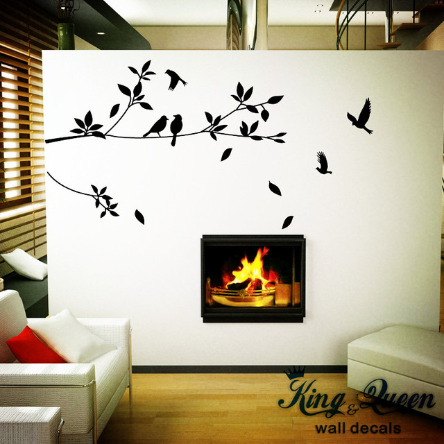 Vinyl Tree And Birds Art Wall Decals Stikers For Wall Decoration For A Lot  Of Room