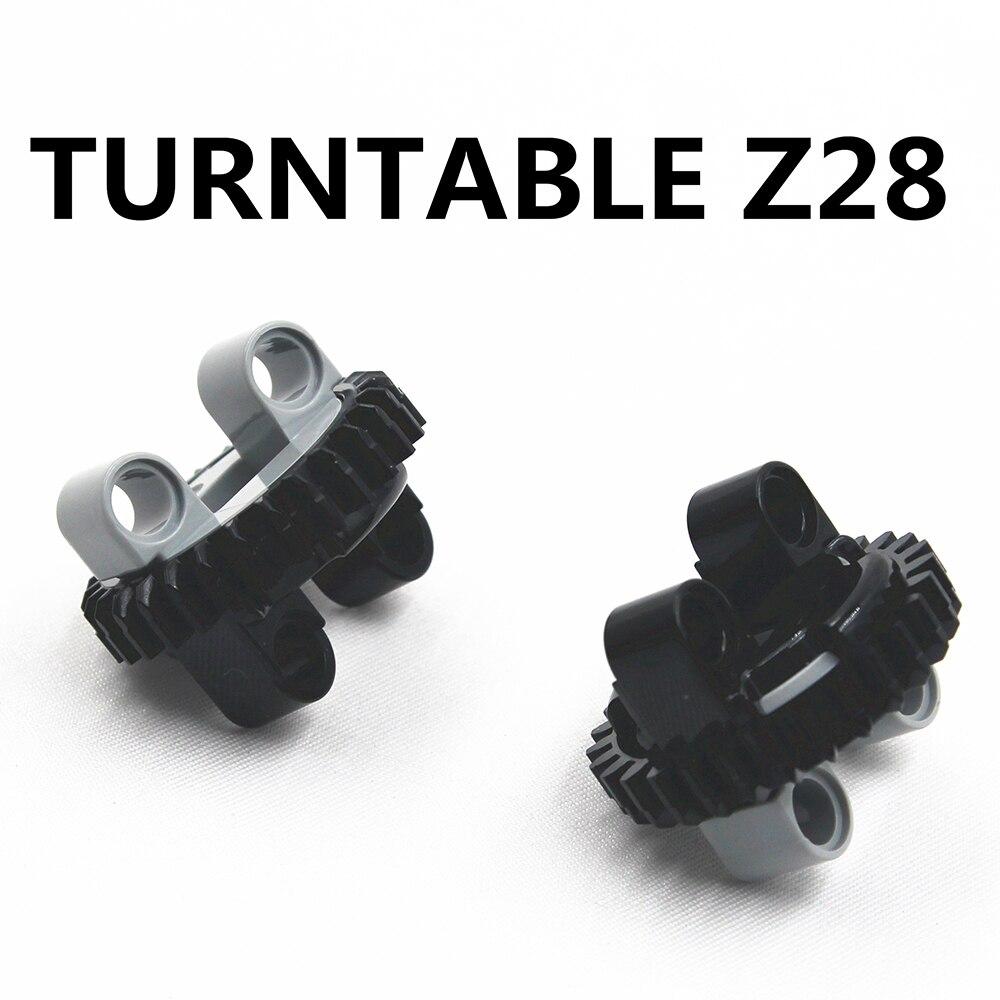 Building Blocks BulkTechnic Parts 2pcs TECHNIC TURNTABLE Z28 Compatible With Lego For Kids Boys Toy NOC4652236