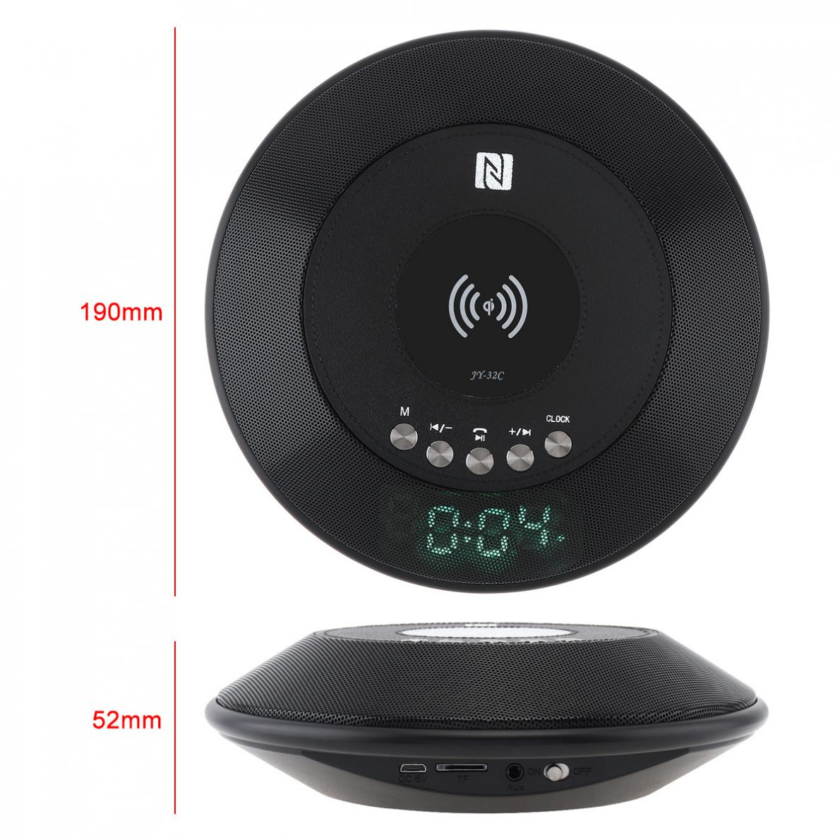 Portable Charging Wireless Bluetooth Speaker TF Card with Digital Screen Display Plug in Speaker Stereo Sound for Shower Outdoor