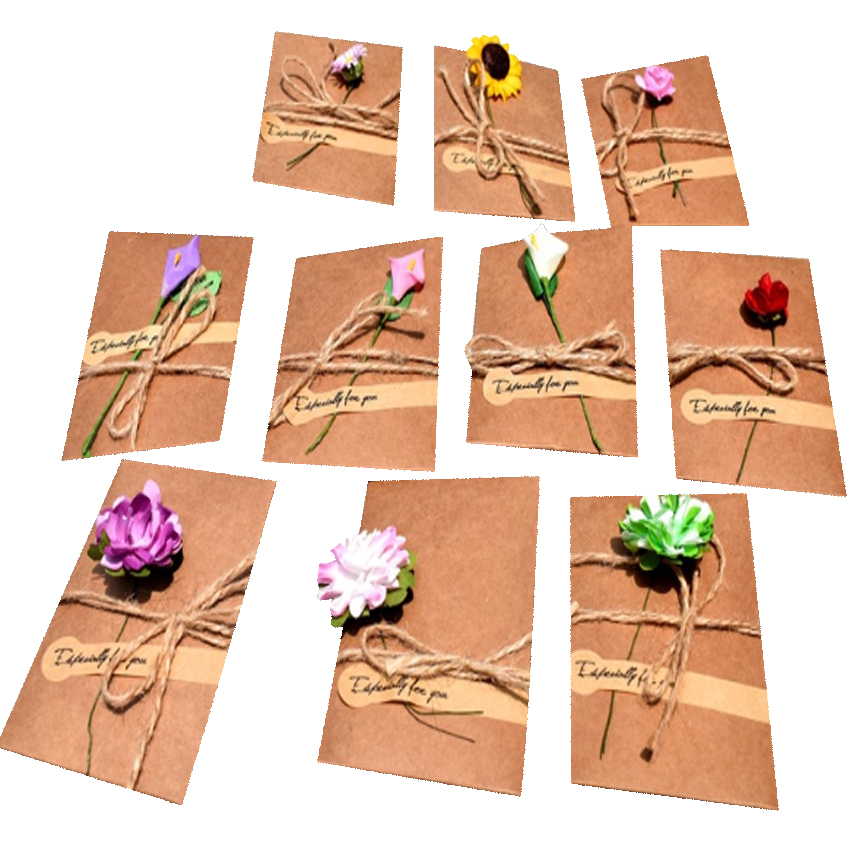 50packslot vintage dried flower paper envelope with blank
