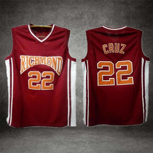 7397add9cae Vintage Basketball Jersey Double Stitched Jersey Color Red Movie Jersey