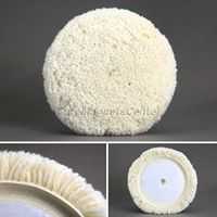 1Pc New Wool 7 Inch 180mm Wool Polishing Clean Buffing Pad Bonnet Car Cleaning Detailing Auto