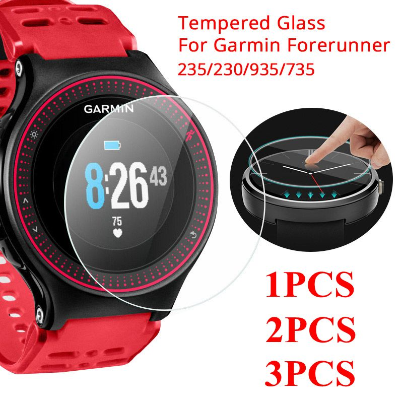 1/2/3PCS Screen Protector For Garmin Forerunner 235 Tempered Glass Screen Protector Film For Garmin 235 935 230 735 Smart Watch