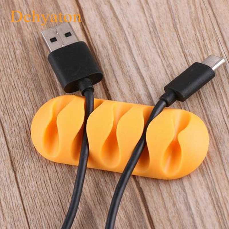 Dehyaton Kabel Klip Kabel Meja Tidy Organizer Pemegang Pemegang Organizer Kabel Jamnya Kawat Kabel USB Charger Kabel Untuk Telepon