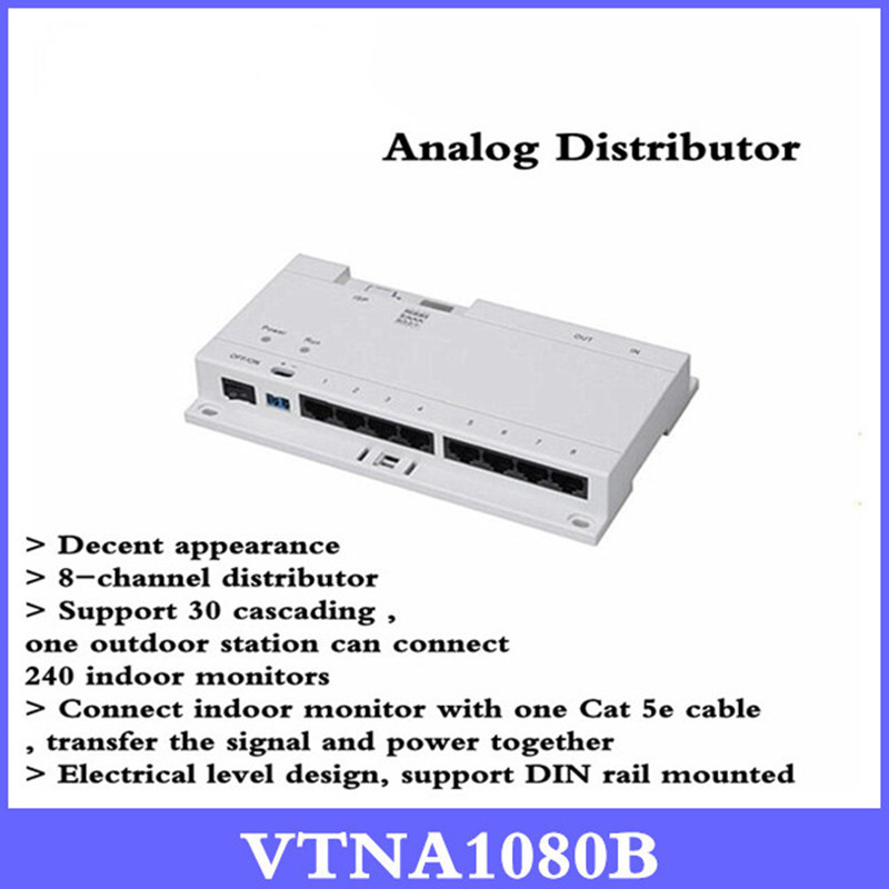 Original DH 8-CH Unit Net Distributor VTNA1080B Support 60 cascading Export English version Without Logo VTNA1080B in stock dahua free shipping 4 ch unit net distributor without logo vtna1040b