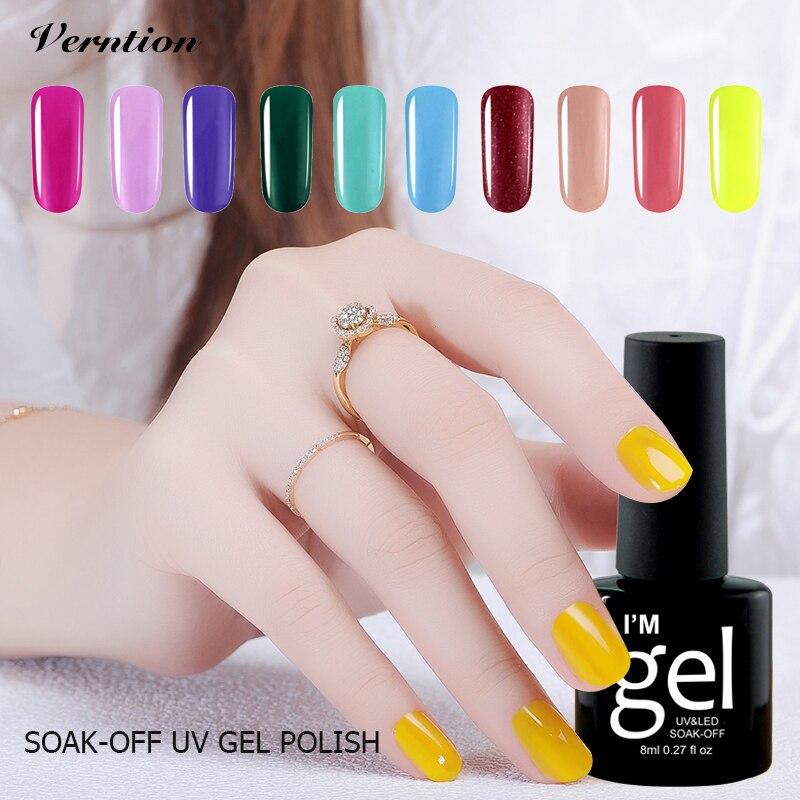 Verntion Hot Sale lucky Colors Nail Polish Salon Gel UV Led Nail Art Lamp Soak Off Polish Nail Gel Foil Adhesive