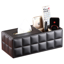 Leather multifunctional desktop remote control storage box fashion coffee table tissue pumping