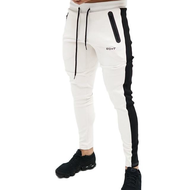 2018 nuevo otoño pantalones hombres algodón Patchwork pantalón equipado  pantalones activo Pantalones Casual Track Pant YZCK07 038cc2574d8a