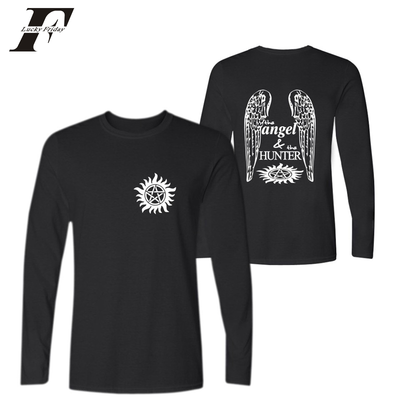 2017 supernatural long sleeve fitness t shirts men women luxury tee shirt femme sxxs to 4xl t. Black Bedroom Furniture Sets. Home Design Ideas