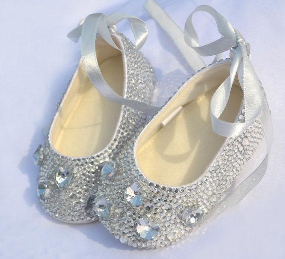 Envío gratis! hermoso estilo de la princesa, S7845 hechos a mano pura Rhinestone bebé niño suela blanda niños zapatos inferiores suaves