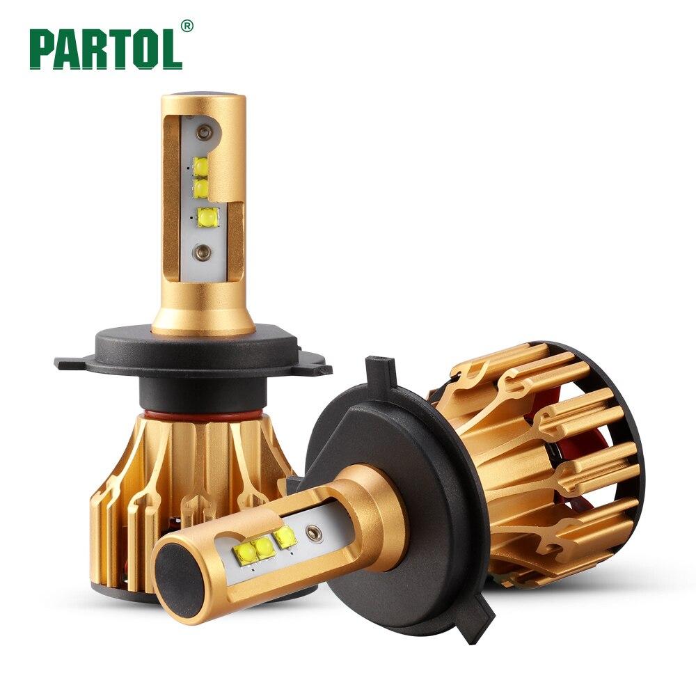Partol T6 LED H4 H7 H11 9006 9005 Auto Scheinwerfer Lampen 70 Watt 7000LM Alle in Einem Automobil Led-scheinwerfer Frontscheinwerfer 6500 Karat 12 V 24 V