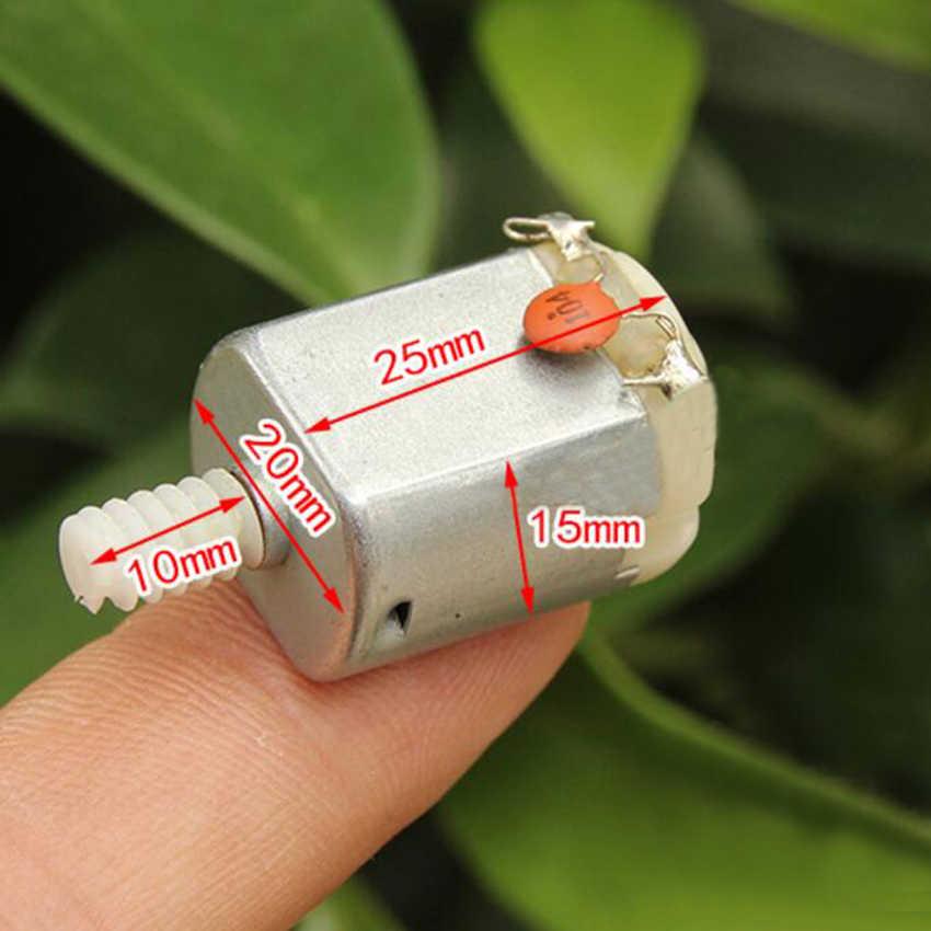 1 قطع 130 صغيرة 3 إلى 6 فولت موتور تيار مباشر مع مع دودة والعتاد ل DIY نموذج اللعب