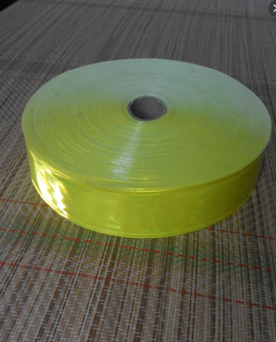 Hot Sale High visibility PVC reflective tape reflective safety clothing accessories fluorescence yellow high visibility
