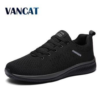 ¡Novedad de 2019! Zapatos informales de malla para hombre, Zapatos cómodos para hombre, zapatillas ligeras transpirables para caminar, Tenis femeninos, Zapatos de talla grande 47