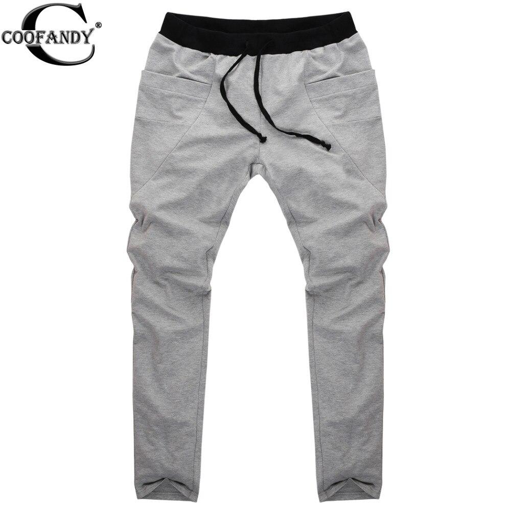 Black Cotton Pants Men