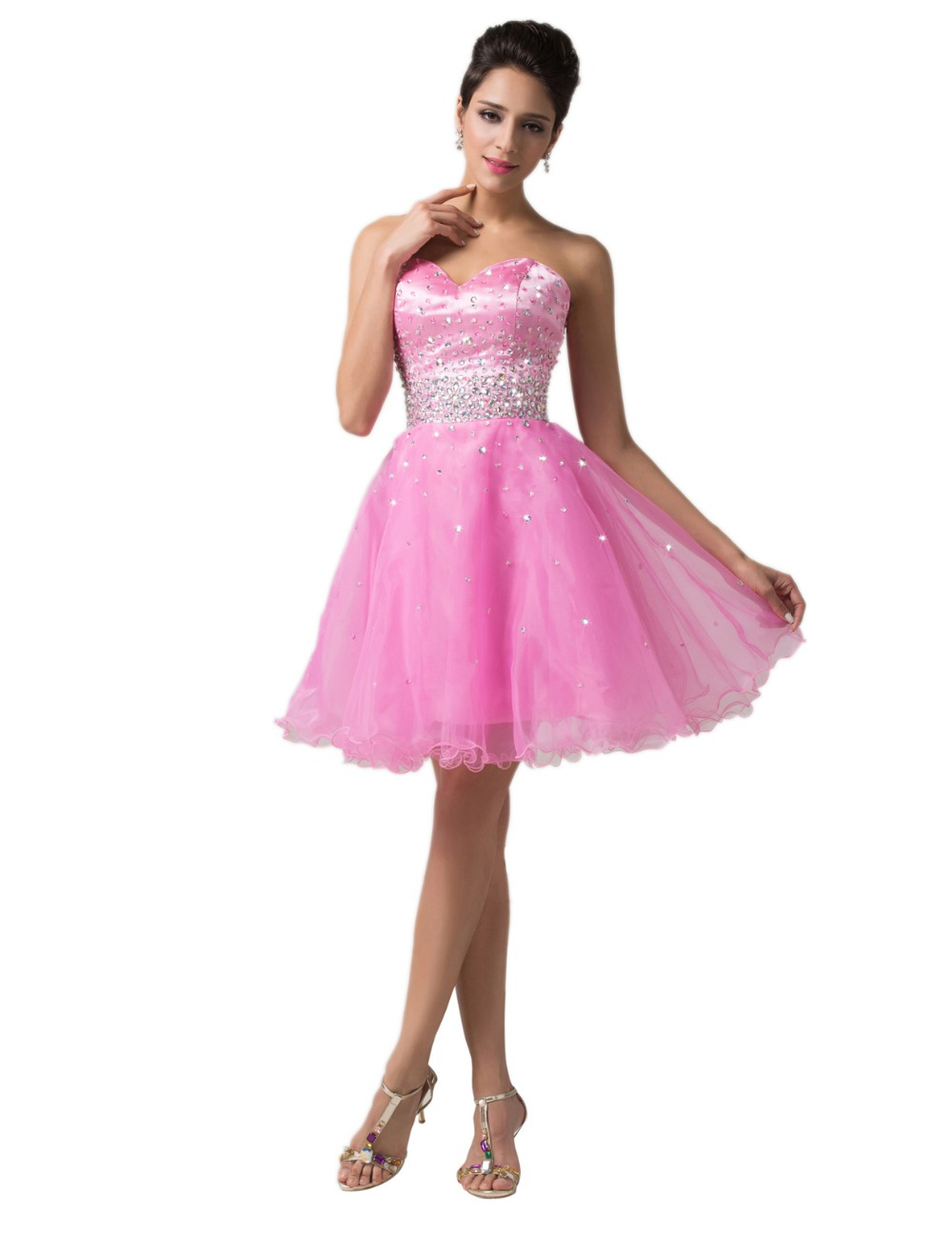 Cheap beaded knee length organza women cocktail dresses corset cheap beaded knee length organza women cocktail dresses corset homecoming dress 2017 short formal party ball prom gowns 6145 in homecoming dresses from ombrellifo Image collections