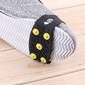 1 pair Delicate 5-Stud Neve Ice Climbing Anti Slip Spikes Grips Grampos Crampon Sapatos Cobrir dcuxi venda Em Todo O Mundo