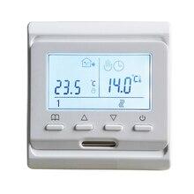 220В 16А Еженедельный программируемый Электрический нагревательный комнатный термостат для напольного нагревательного матового кабеля и нагревательной пленки