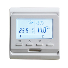 220V 16A Weekly Programmable Electric Heating Room Thermostat for Floor Heating Mat Cable and Heating Film