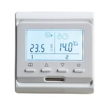 Thermostat Programmable hebdomadaire de pièce de chauffage électrique de 220V 16A pour le câble de tapis de chauffage par le sol et le Film chauffant