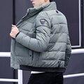 Мужская зимняя куртка  теплая Повседневная парка с хлопковой подкладкой  2018