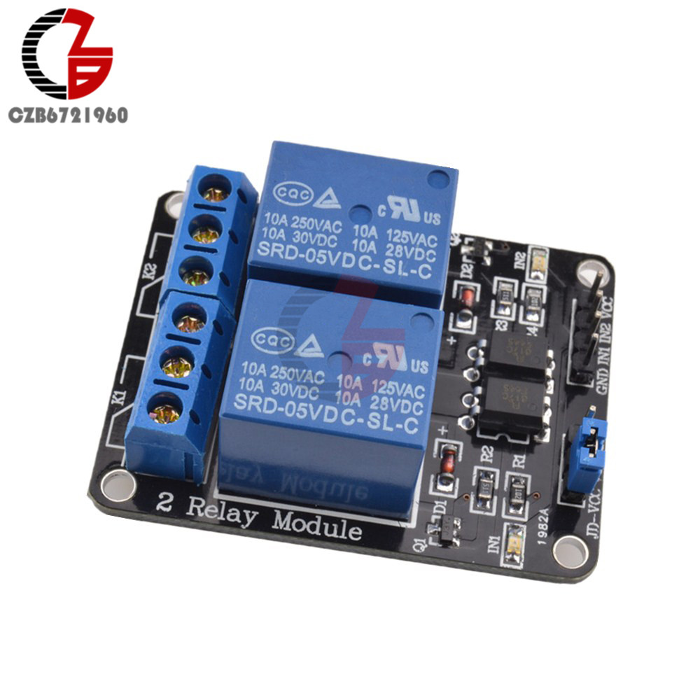 5V 2 Channel Relay Module Low Level Triggered 2-Way 2CH Relay Module with Optocoupler Expansion for Arduino ARM PIC AVR DSP 16 channel 5v relay module expansion board for arduino works with official arduino boards
