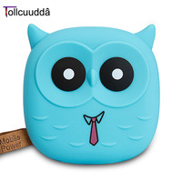 Tollcuudda 18650 Power Bank Cute Cartoon Owl Portable Mobile BackupBank MI Charger For Android Xiaomi Iphone