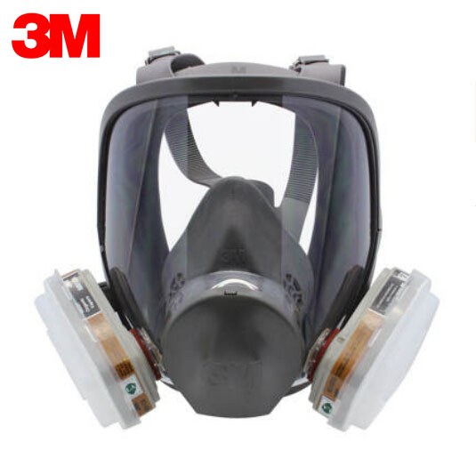 3M 6900 Full Facepiece Reusable Respirator Mask Large Size with 6001 Gas Cartridges Anti-organic Vapor 7 pieces Suit R82403