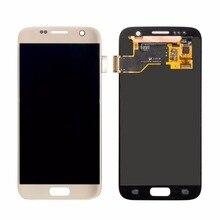 10 PCS/Lot Layar Sentuh Digitizer Perakitan 100% Diuji Untuk Samsung Galaxy s7 G930 G930F Penggantian Lcd Ponsel