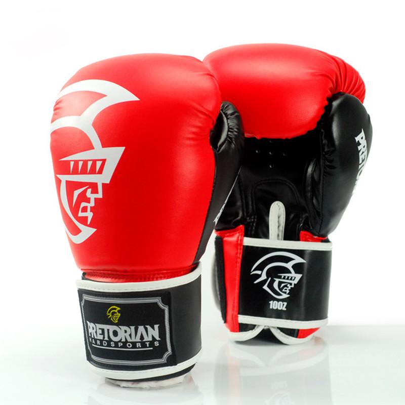 Prix pour PRETORIAN gants de boxe En Cuir PU mma gants Muay Thai karaté taekwondo Formation gants (10 oz/12 oz/14 oz)