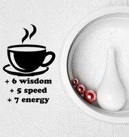 מדבקות קיר מצחיק מטבח קפה כוס קפה תה משחק וידאו ויניל מדבקות