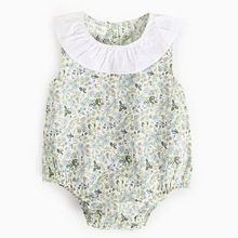 Summer Cute Floral Ins Baby Girls Clothes Jumpsuit Romper 0-24M Age Ifant Toddler Newborn Outfits Hot Sale