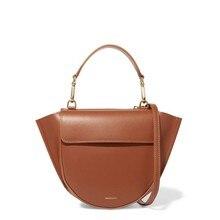 2018 PU Leather Semicicle Saddle Bags Solid Color Women bag fashion purse