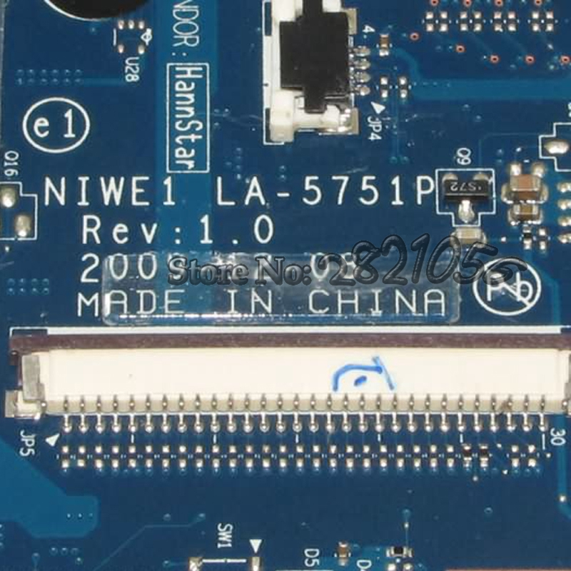 US $69 0  NOKOTION Laptop Motherboard For Lenovo G460 Z460 MAIN BOARD NIWE1  LA 5751P HM55 UMA DDR3 Free CPU-in Motherboards from Computer & Office on
