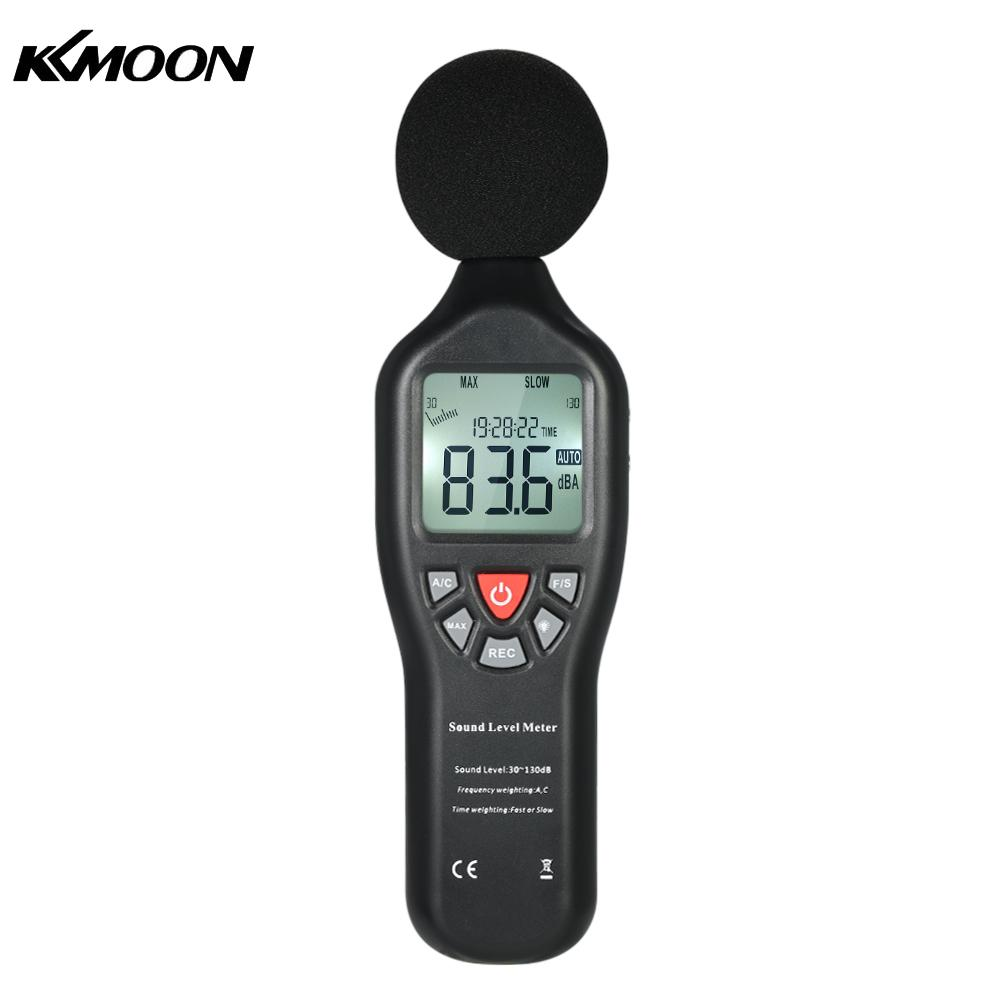 LCD Digital Sound Level Meter 30 130dBA Noise Measuring Instrument Decibel Monitoring Tester with Data Logging