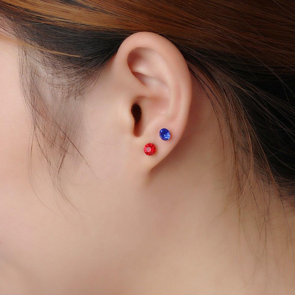 40Pcs Multi-Color Stone Crystal Ear Studs Set Elegant Earrings Avoid Allergy Pin Earrings Set For Women Girls Jewelry Wholesale