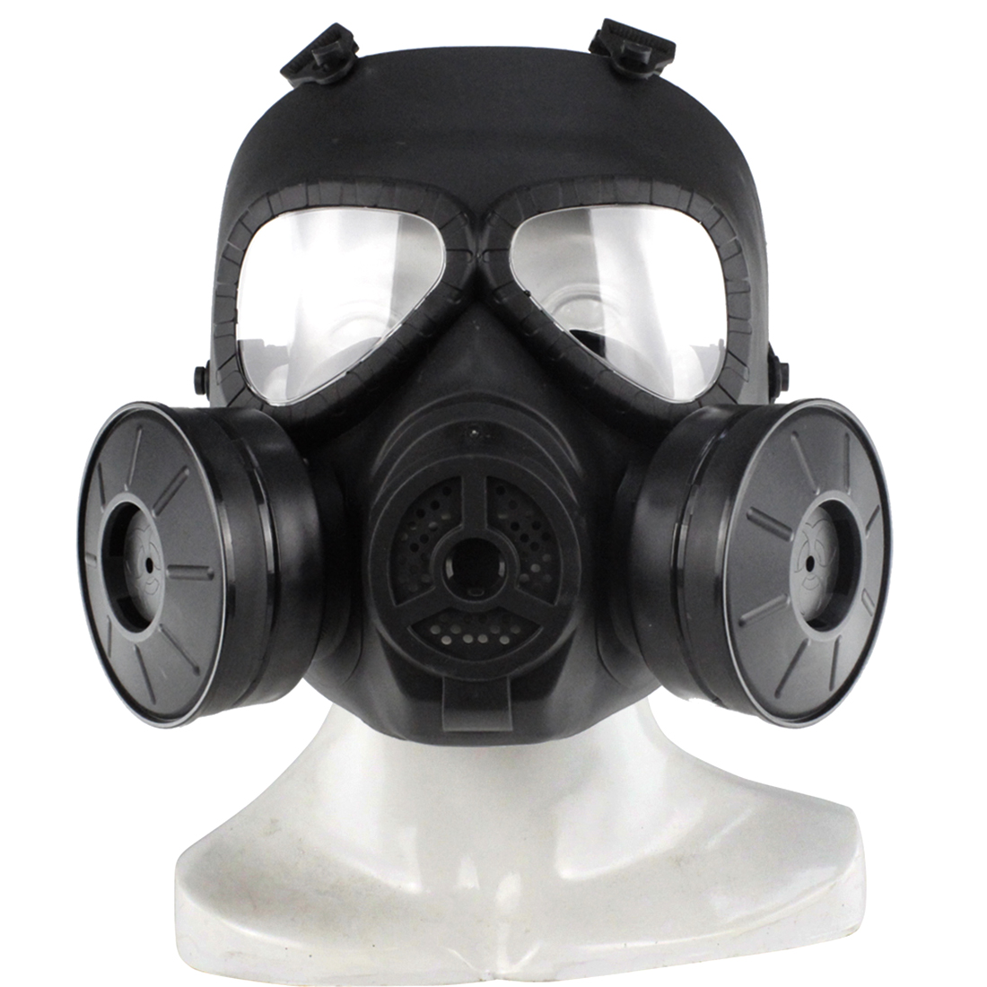 Surwish Head Mask Full Face Double Canister Electric Ventilative Biochemical Gas Mask for Nerf Games