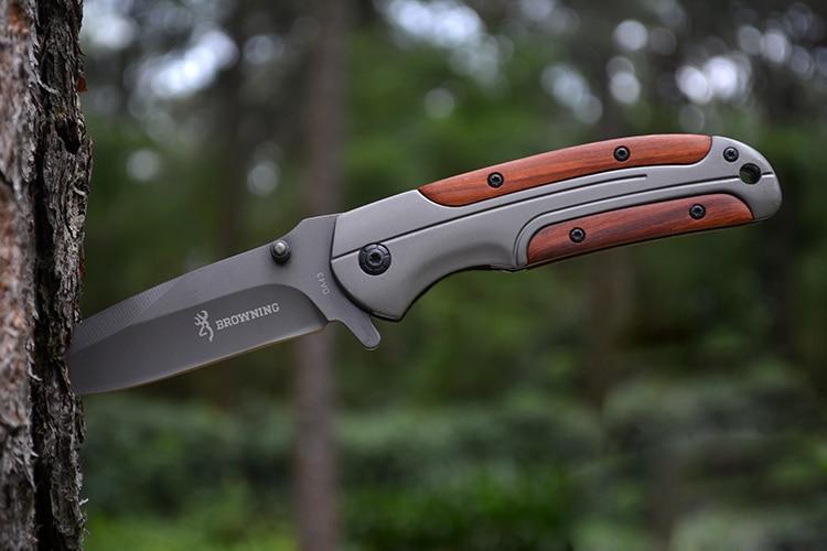 Camping Titanium Folding font b Knife b font font b Tactical b font Pocket font b