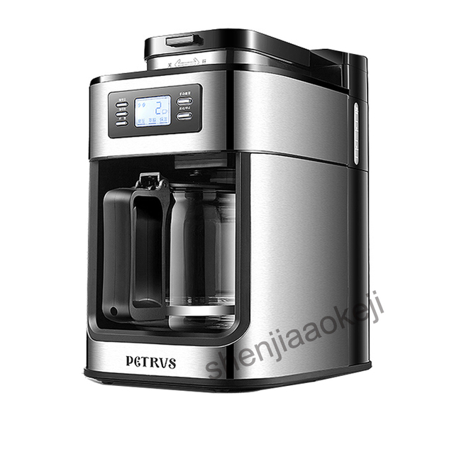 Full Automatic Coffee Machine Cafe American Grinding Bean Grinder Freshly Brewed Maker 220v