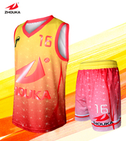 Sublimation Custom Singlet Set Wholesale Price 100 Polyester Top Quality Any Color Can Be Customized
