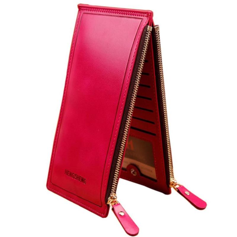Women Long Wallet Zipper Pocket Card Holder Clutch Bifold Slim Purse Coin 2016 Credit Card Wallet Ticket Credit Card Bag Case small light universal tripod mount phone holder for smart phones