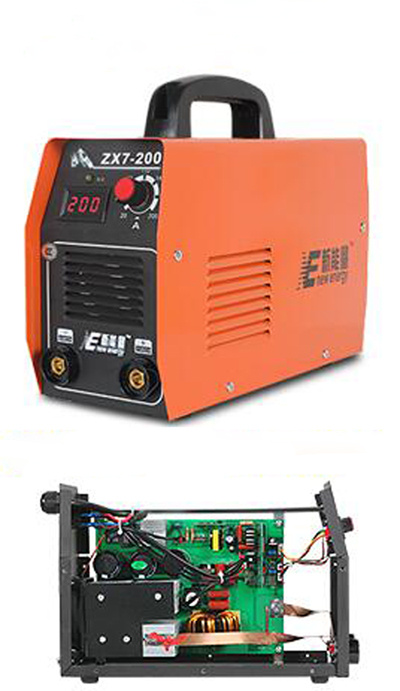 1PC ZX7-200 full copper core portable household 3.2 long electrode welding inverter dc manual arc welding machine 220V zx7 200 220v inverter dc welding machine full automatic portable all copper mini household electric welding machine free shippin