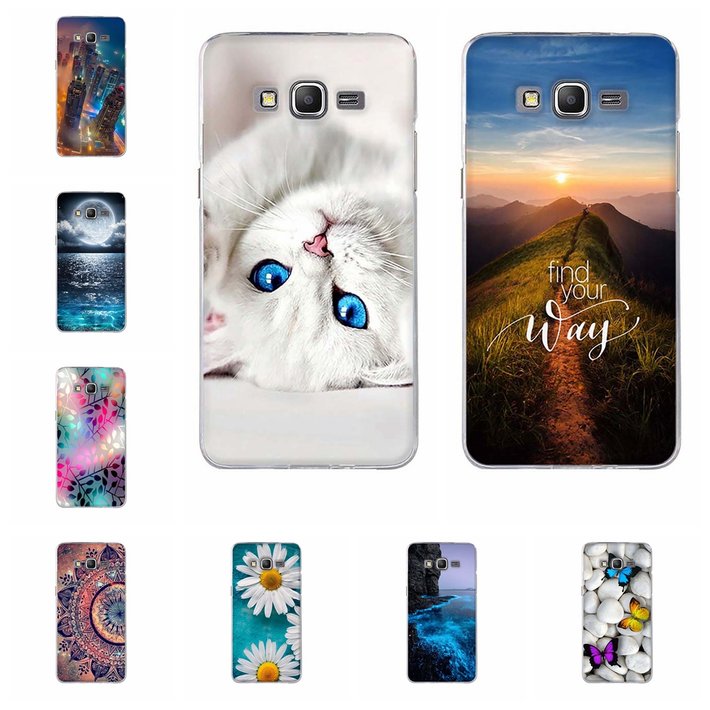 Galleria fotografica For Coque Samsung Galaxy Grand Prime Case Silicon Back Cover for Samsung Galaxy G530 G530H G531 G531H G531F Soft TPU Back Bag